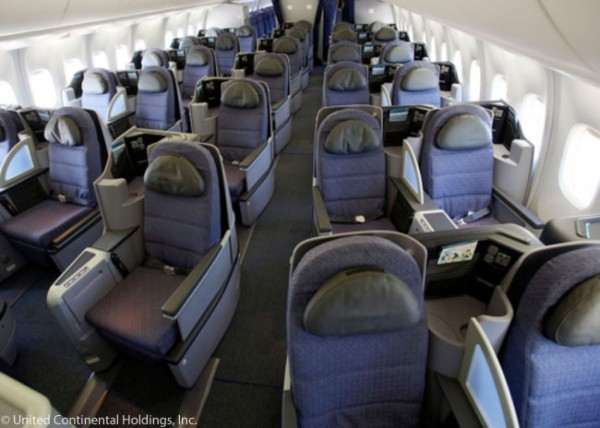 2-1-2 BusinessFirst class seats on United's 767-300ER