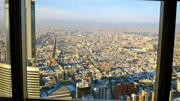 The view from the 47th floor of the Park Hyatt Tokyo (Photo: Chris McGinnis)