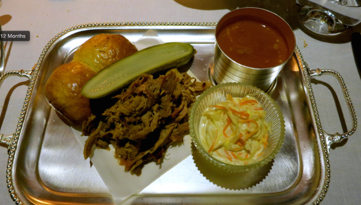 Umm. Pulled pork on a silver platter at Blue Boar Restaurant & Bar. (Photo: Chris McGinnis)