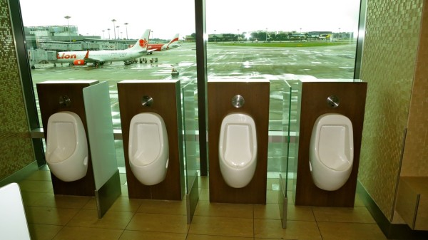 Urinals with an amazing view