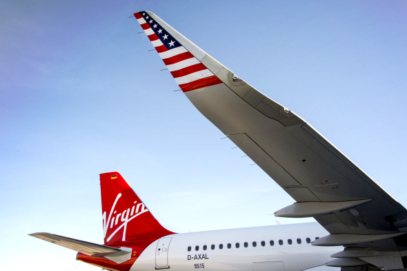 Virgin America's newest A320's have sharklets on the wings. Seen em? (Photo: Virgin America)