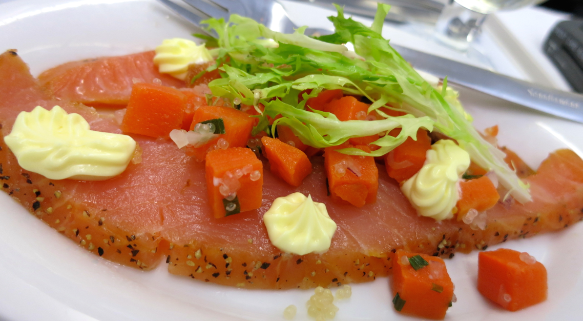 Outstanding peppered salmon starter onboard SAS (Photo: Chris McGinnis)
