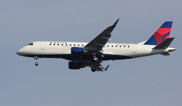 A Delta Embraer 175. Photo: Christopher Ebdon