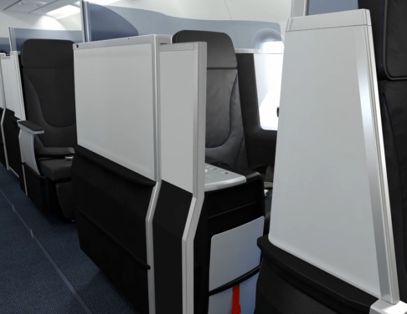 The new JetBlue seat will have a door that closes. (Photo: JetBlue)