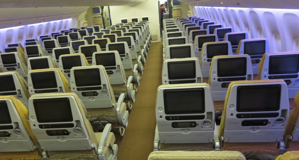 Economy class seats have 11.1 inch LCD screens (Chris McGinnis)
