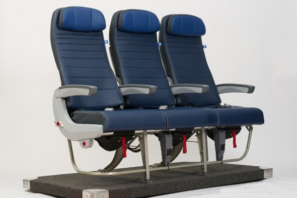 United's new slim line seats for B737s. (United)