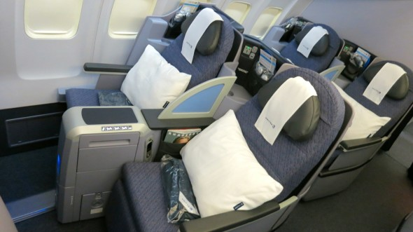There are 28 of these true lie flat business class seats on each ps 757
