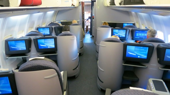 Two cabins in business class for a total of 28 seats on United p.s. (Chris McGinnis)
