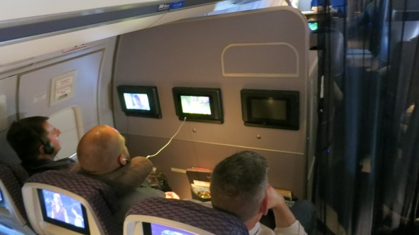 Row 20 is not Economy Plus because of that bulkhead and no recline