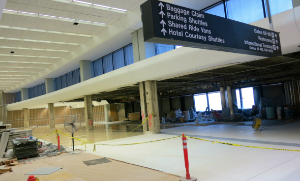 Site of the new United Club adjacent to Boarding Area E (Chris McGinnis)
