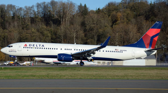 Delta's newest jet, the Boeing 737-900 (Photo: Drewski / Flickr)