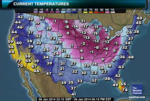 Current tempuratures (The Weather Channel)