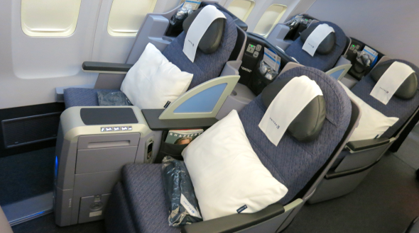 United's upgraded p.s. Business Class SFO-NYC (Photo: Chris McGinnis)