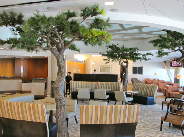 Have you ever been inside American's Admiral's Club at SFO Terminal 2? Nice! (Photo: Chris McGinnis)