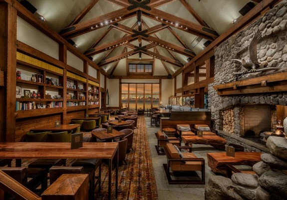 "Fabulous new ""grand lodge"" interiors at Hyatt Regency Lake Tahoe (Photo: Hyatt)"