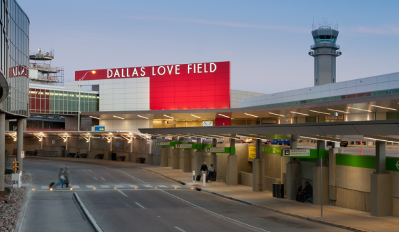 Dallas Love Field...the color scheme looks very Virgin America, don't you think? (Photo: Hensel Phelps)