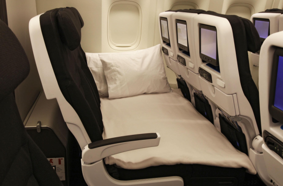 Air New Zealand's SkyCouch seat finally coming to SFO! (Photo: Air New Zealand)