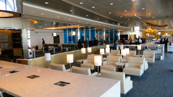 United's big bright new Club at London Heathrow Terminal 2. CLICK ON PHOTO FOR SLIDESHOW