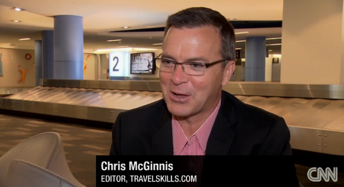 Chris McGinnis on CNN at SFO