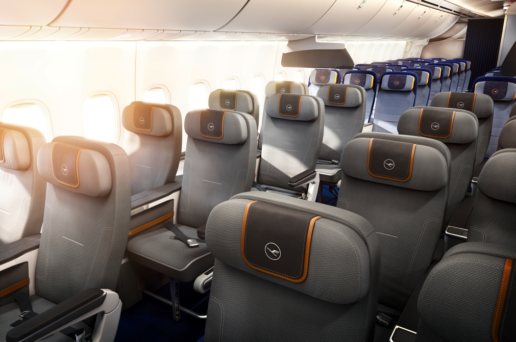 Here's a look at a mock up of Lufthansa's new premium economy seats (Photo: Lufthansa)