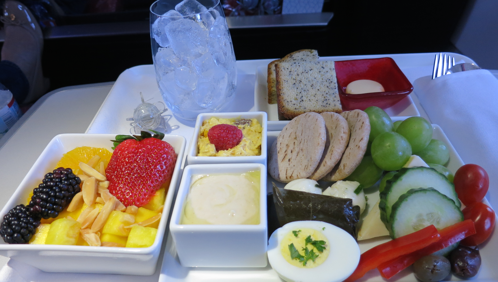 The Protein Plate breakfast on Virgin America. Perfection on a plane! (Photo: Chris McGinnis)