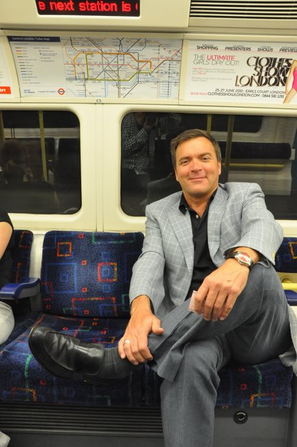 Chris on The Tube in London (Photo: Johnny Jet)