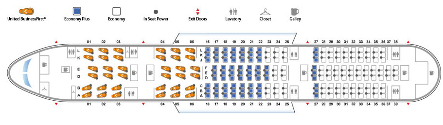 Seat map United's Boeing 787 Dreamliner