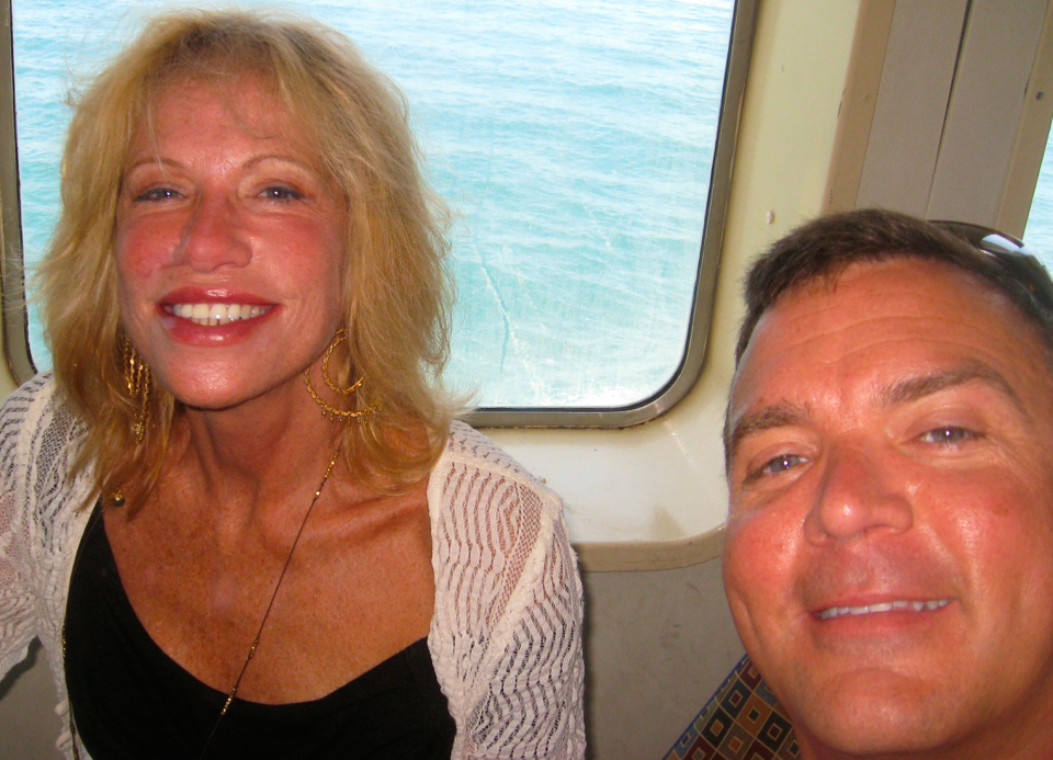 Carly Simon looking and sounding great at 65 on the ferry between Martha's Vineyard and Woods Hole, Mass. (and me!)