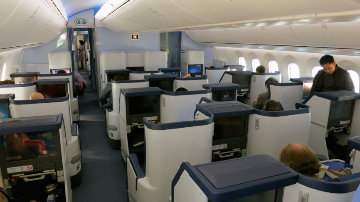 Business class was full, but it sure did not feel that way (Chris McGinnis)