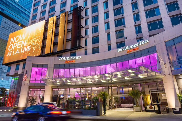 Marriott's newest megabuild near the LA Live complex downtown Los Angeles (Photo: Marriott)