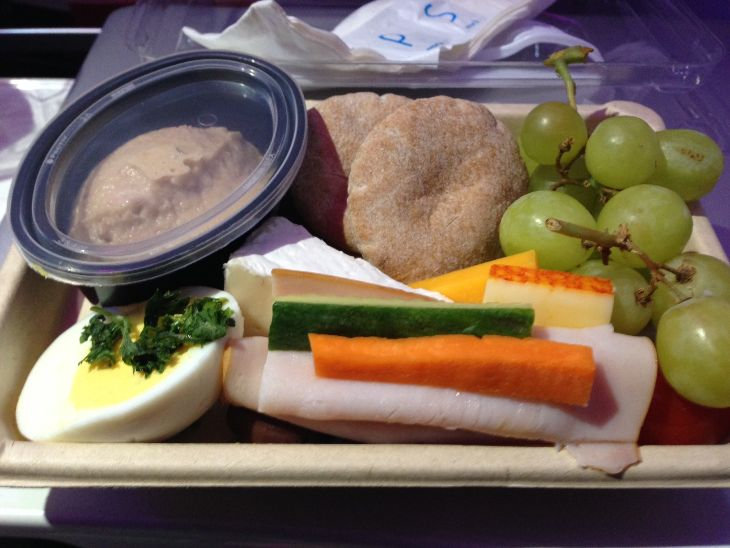 My Main Cabin Select protein plate BOS-SFO last week. (Photo: Chris McGinnis)