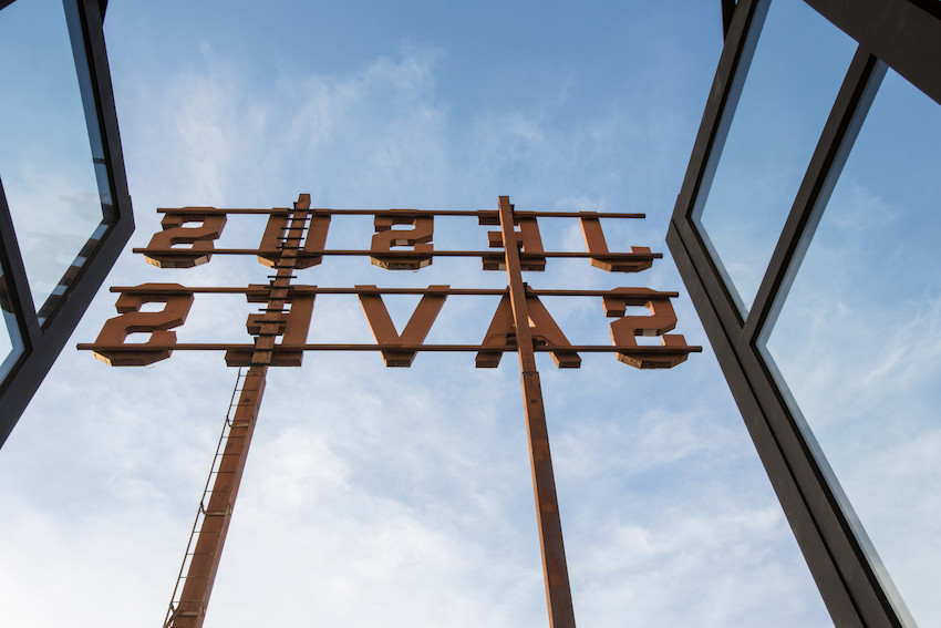 The ACE hotel is easy to spot due to this sign on its roof (Photo: Lauren Coleman)