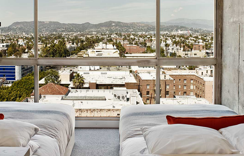 Cement walls and big views from the new Line Hotel in LA (Photo: The Line)
