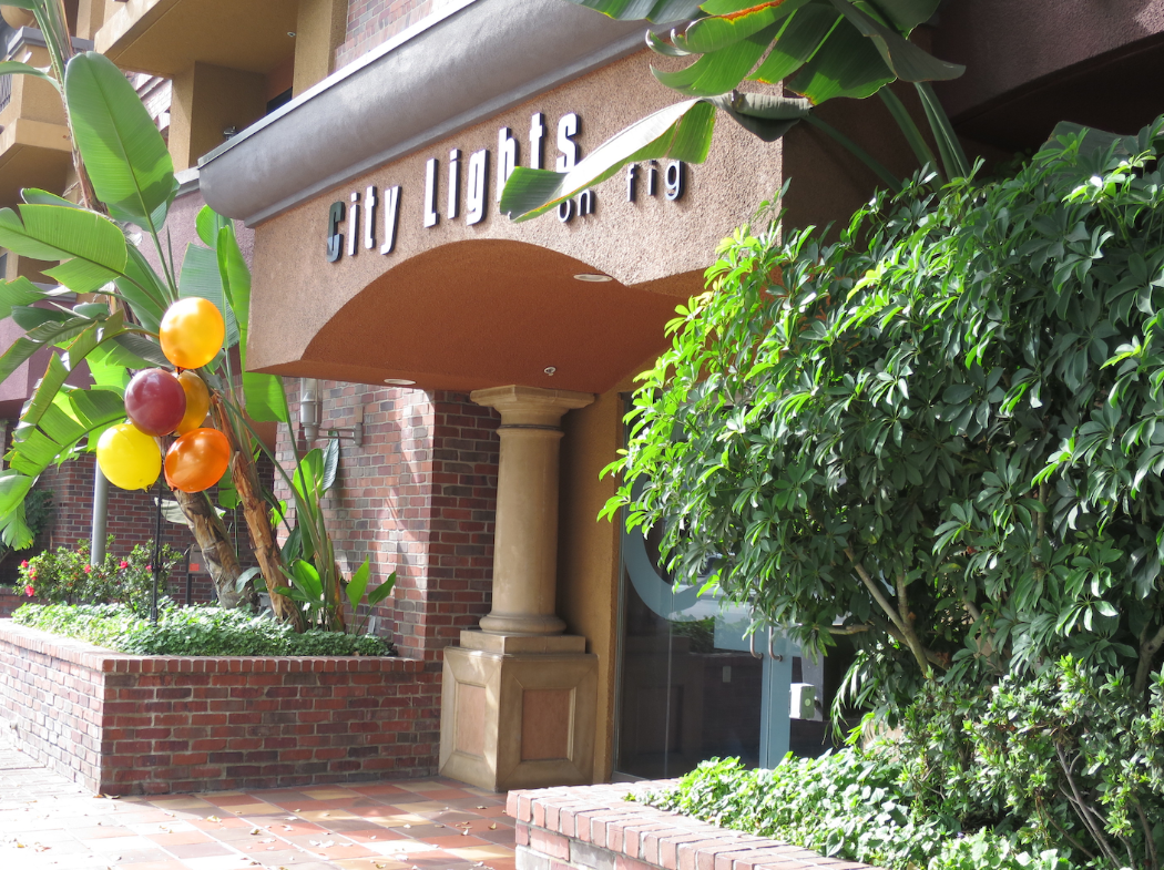 The front door to my Airbnb apartment near the LA Convention Center (Photo: Nancy Branka)