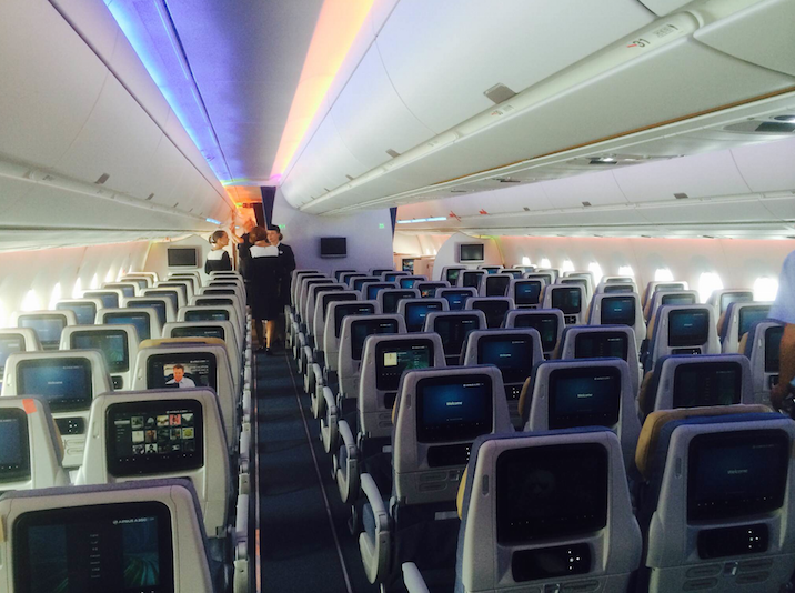 Inside an Airbus A350 (Photo: Ramsey Qubein)