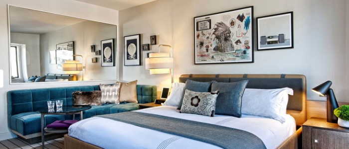 Hip and cozy decor at the new Thompson  Chicago hotel (Photo: Commune Hotels)