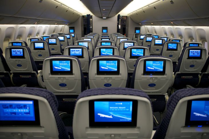 Economy class on a United 767 (Photo: United)