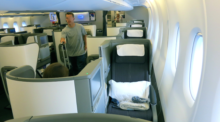 On BA's A380, business class is an upstairs-downstairs affair (Photo: Chris McGinnis)