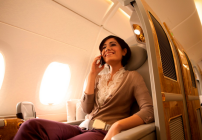Emirates Airline does not have a problem with passengers using their mobile phones in flight (Photo: OnAir)