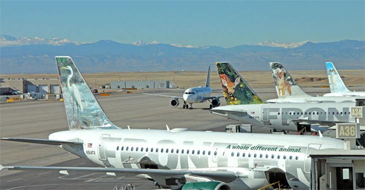Frontier Airlines is adding 10 more routes this spring. (Image: Jim Glab)