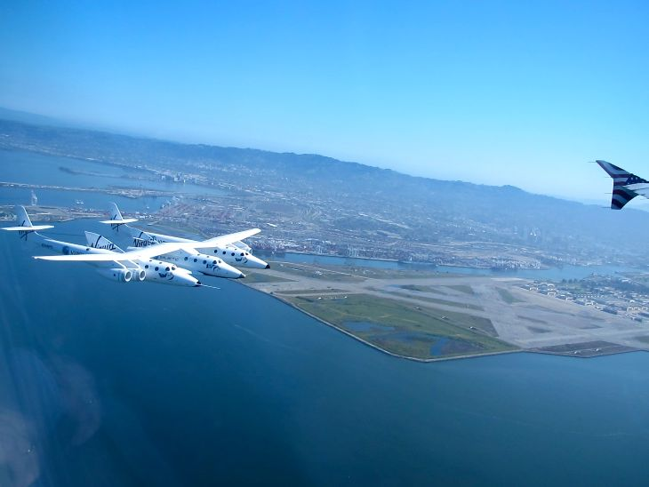 Flying over Alameda on approach to SFO (Photo: Chris McGinnis)