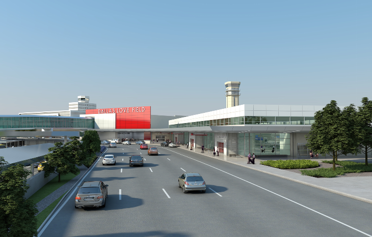 The red and  white exterior of the modern new terminal at Dallas Love looks as if it was designed with Virgin America in mind...dontcha think?