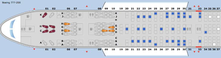 United seat map