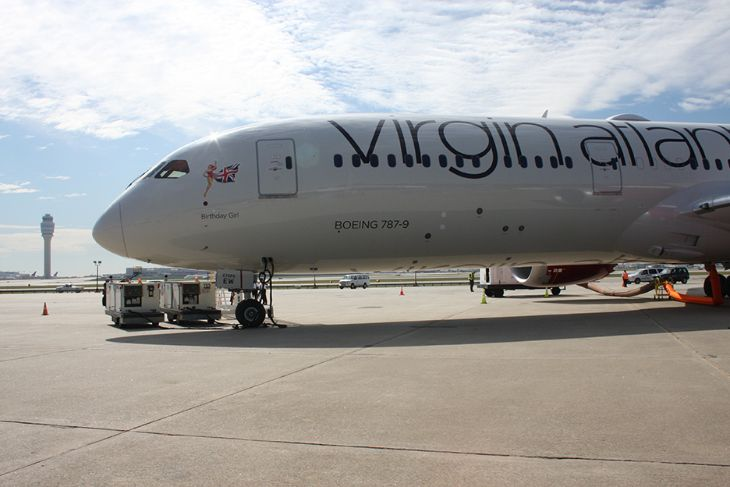Virgin Atlantic's brand new Dreamliner touched down at ATL this week (Photo: Hartsfield-Jackson)