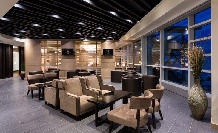 The Plaza Premium Lounge at Vancouver International Airport