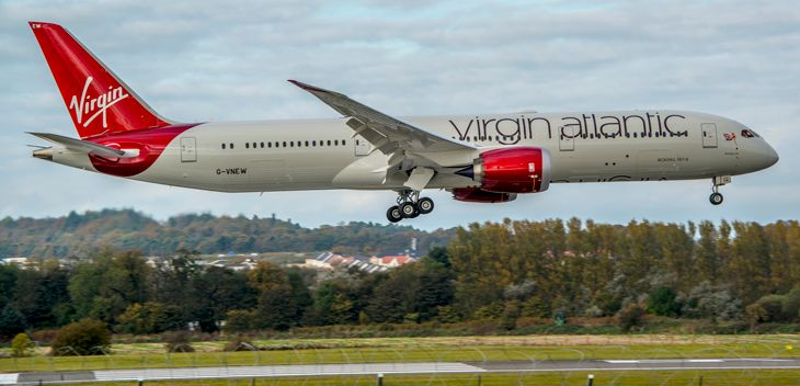 Virgin Atlantic's newest plane, the 787-9, deployed on Boston-Heathrow. (Photo: Jim Ramsay)