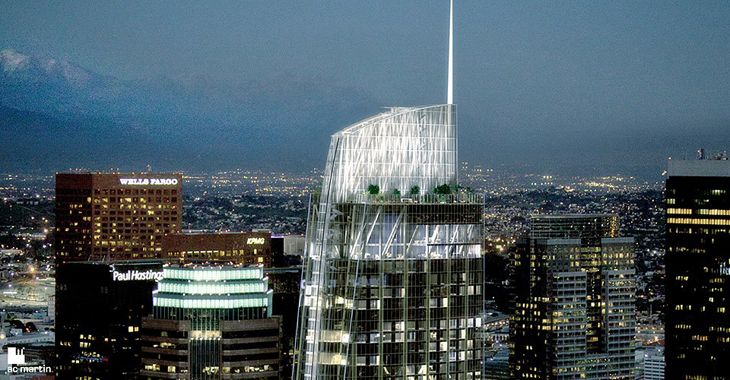 Here's a mock up of Korean Air's new Wilshire Grand Center in downtown LA