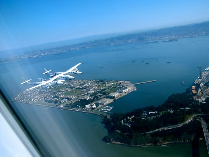 Flying over Treasure Island in San Francisco Bay-- where Pan Am Clippers used to take off for Asia! (Photo: Chris McGinnis)