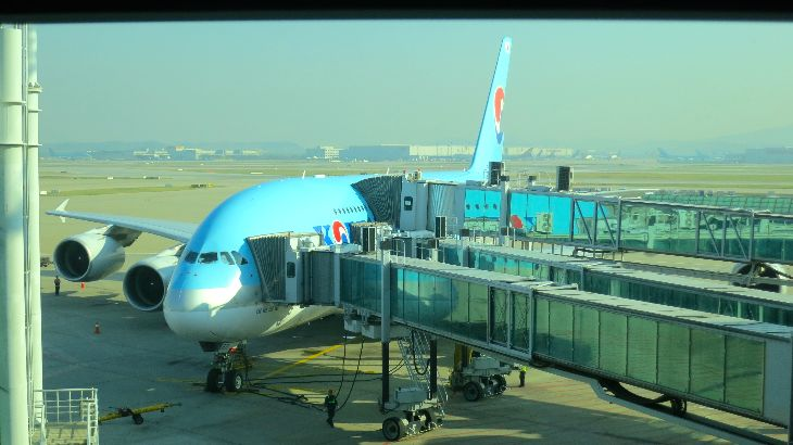 It takes three jetways to load up an A380 here at Seoul's Incheon Airport (Photo: Chris McGinnis)