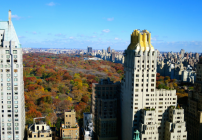 A brilliant fall day in NYC from the top floor of the Parker Meridien hotel (Photo: Chris McGinnis)